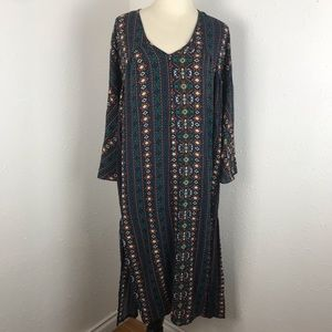 I. Madeline Midi Dress Aztec Print